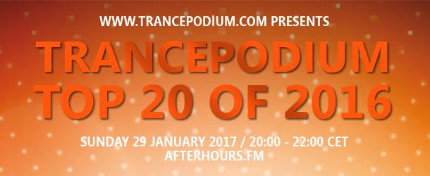 TrancePodium Top 20 Tracks Of 2016