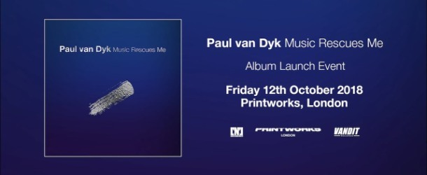 Paul van Dyk breaks news of new album & launch show