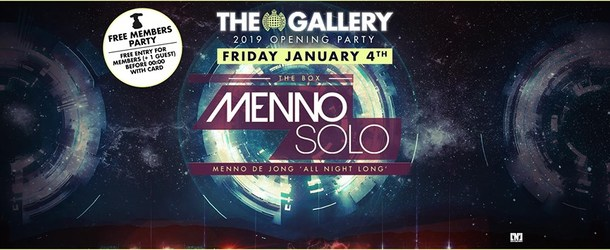 The Gallery 2019 Opening Party: Menno Solo