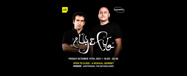 Luminosity pres. Aly & Fila Open To Close - A Musical Journey on October 15th!