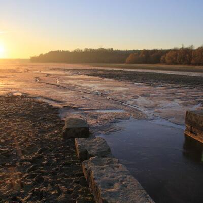 Coucher de soleil sur l'étang de Bairon