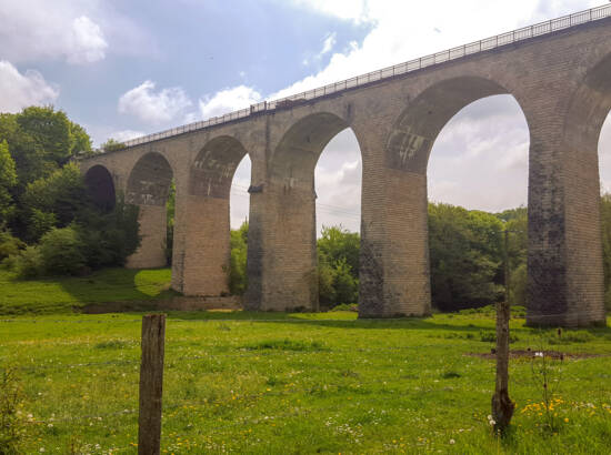 Vue du viaduc d'Ariéthal à Exermont