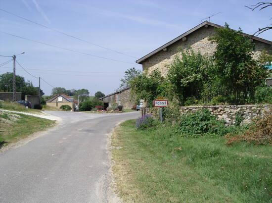 Entrée du village de Fossé