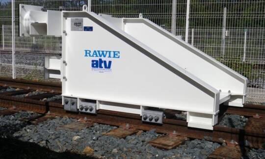 Heurtoir glissant ATV RAWIE SNCF Gare de l'arbresle