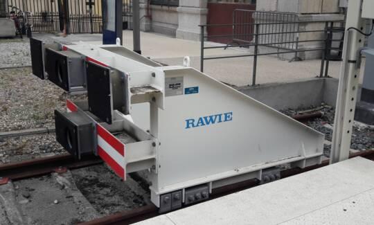 Heurtoir glissant ATV RAWIE SNCF Lyon Saint-Paul