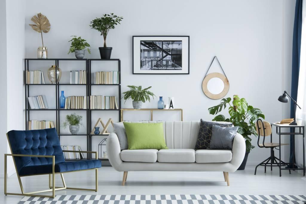 salon style industriel décoration