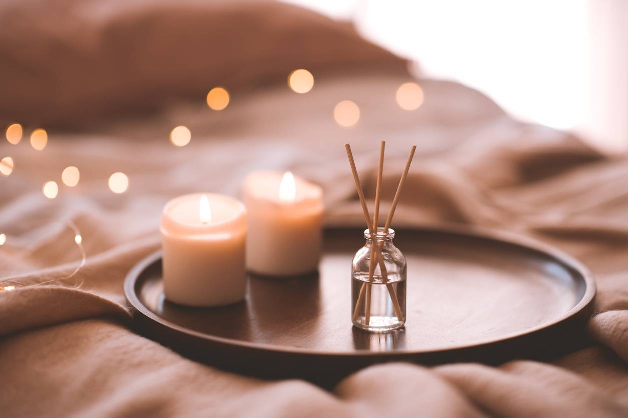 bougies naturelles déco