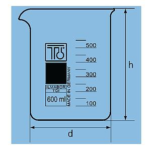 Bécher forme basse en verre - 25 ml - TGI