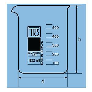 Bécher forme basse en verre - 50 ml - TGI