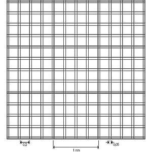 Cellule de numération Bürker - réseau double- avec pinces