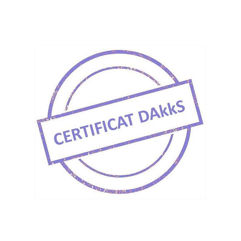 Certificat DAkkS pour jeu de poids étalon 100 mg - 1 kg - Classe M2