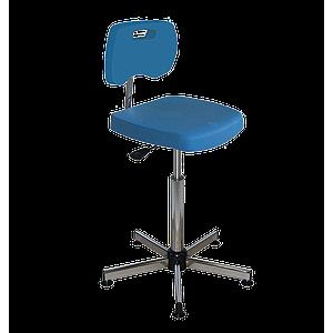Chaise bleue polyuréthane confort à patins - Kango