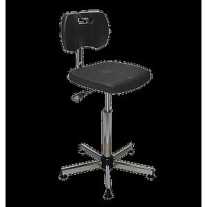 Chaise noire polyuréthane confort à patins - Kango