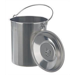 Conteneur inox à anse avec couvercle - 3 litres