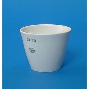 Creuset porcelaine forme moyenne - Ø 60 mm - Hauteur 48 mm - Capacité 80 ml - Lot de 5