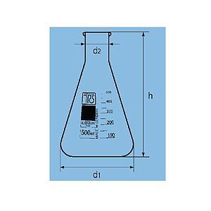Fiole Erlenmeyer col étroit - 3000 ml - TGI