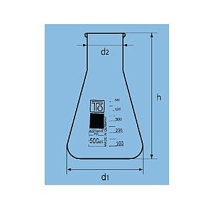 Fiole Erlenmeyer col large - 100 ml - TGI