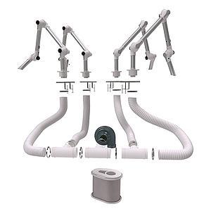 Kit complet d'extraction - Ø50mm - Filtre à gaz - Fumex