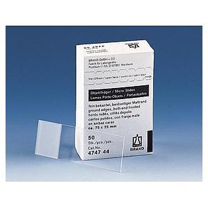 Lame porte-objet à bords polis, 2 cotés mat pour microscope - Boîte de 50 - Brand