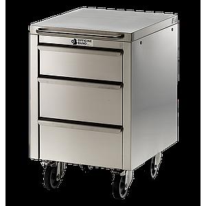 Meuble Inox sous paillasse - 1 porte / 1 tiroir  - Ouverture droite - 490 x 670 mm - Bano