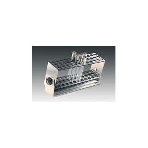 Portoir inclinable pour 64 tubes à essai diam. 14 mm