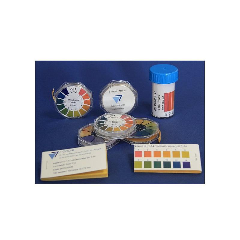 Rouleau de papier pH universel 1-14 - 5 m