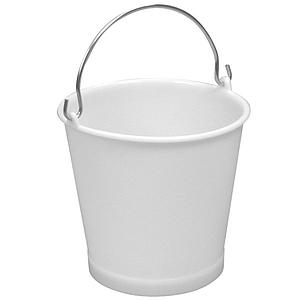 Seau industriel blanc - 10 litres - Lot de 10 - Gilac
