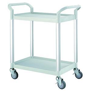 Servante multi-usages 2 plateaux - Gris clair - 250 kg