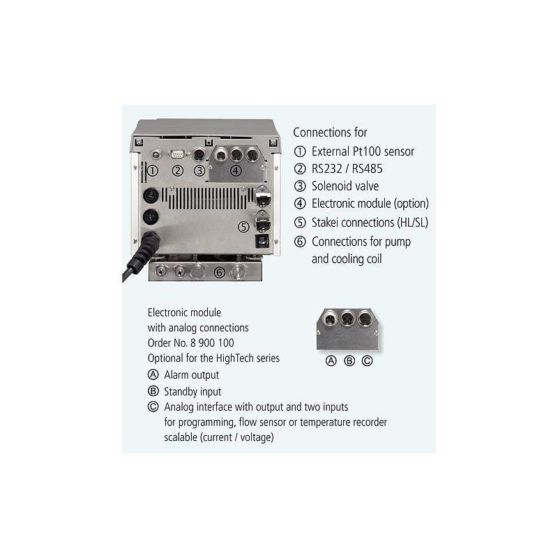 Thermostat à circulation HE-4 - 4.5 litres - Cuve inox 250 °C - JULABO