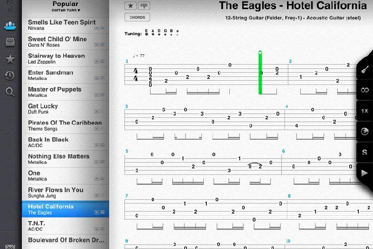 Songsterr: l'appli Android pour les tablatures de guitare