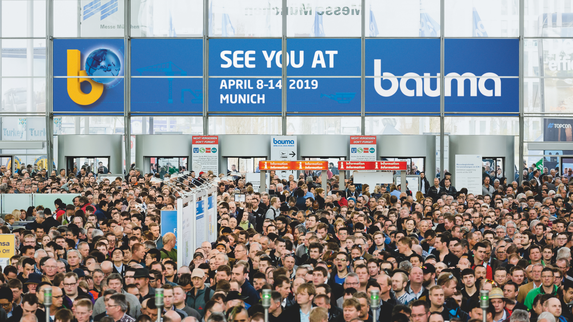 Salon Bauma 2019 - Entrance hall