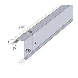 METAAL WINDVEER BRUIN L=2.10M RAL8019
