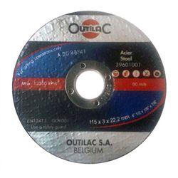 Outilac - Disque à tronçonner acier/inox 125x1x22,2