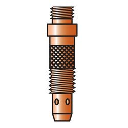 Verbruikartikel TIG17-26ECO-18 Classic Gas diffuser-Type TE0001-16-Ø 1,6 mm