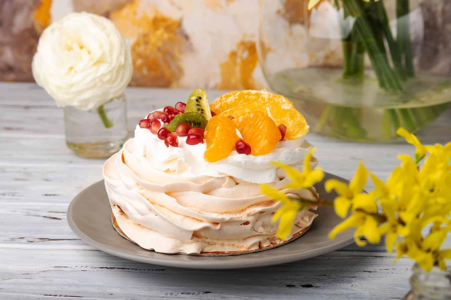 Photo gâteau pavlova