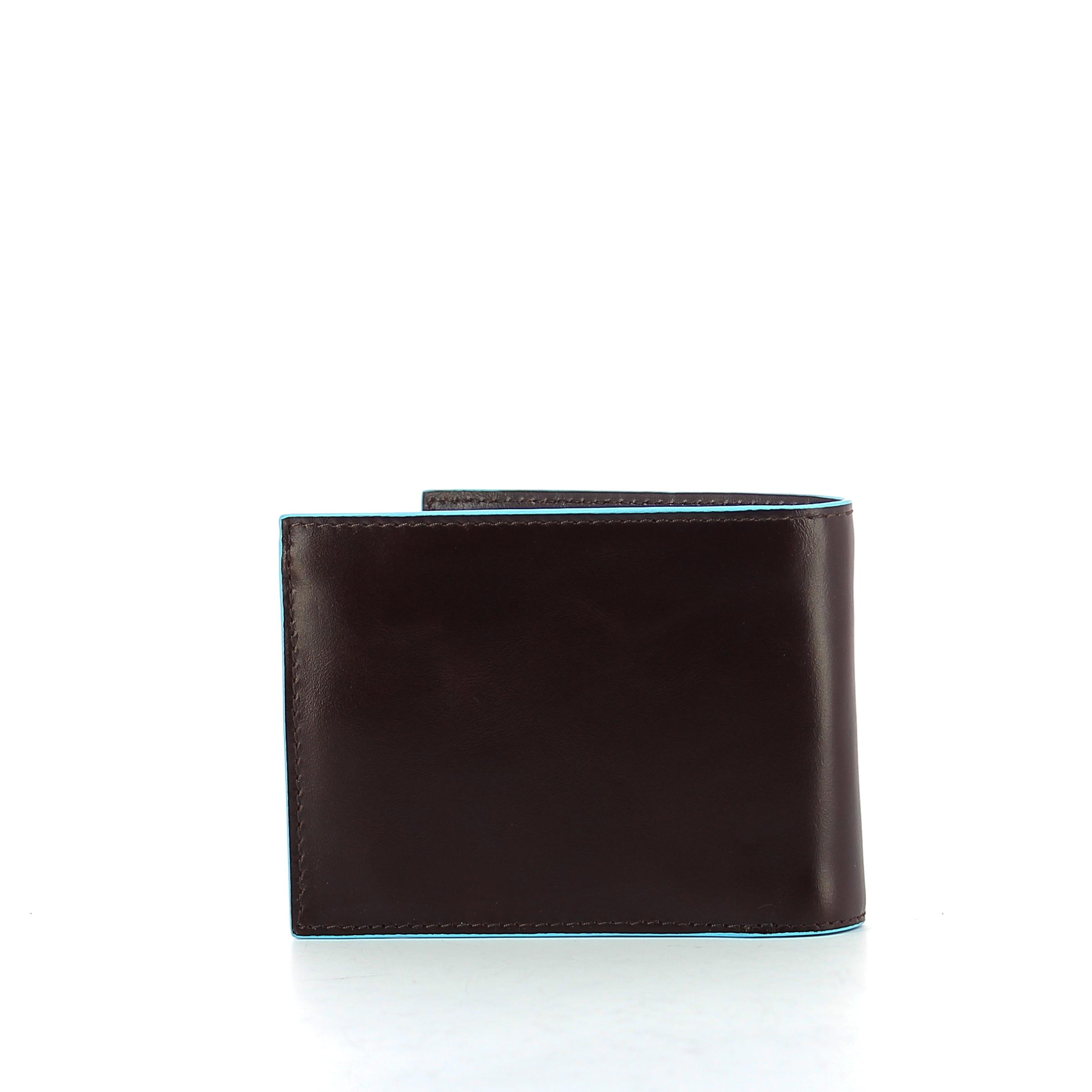 Portafoglio con portamonete Blue Square Piquadro MOGANO 2 2 di 4 ... c09b0884712