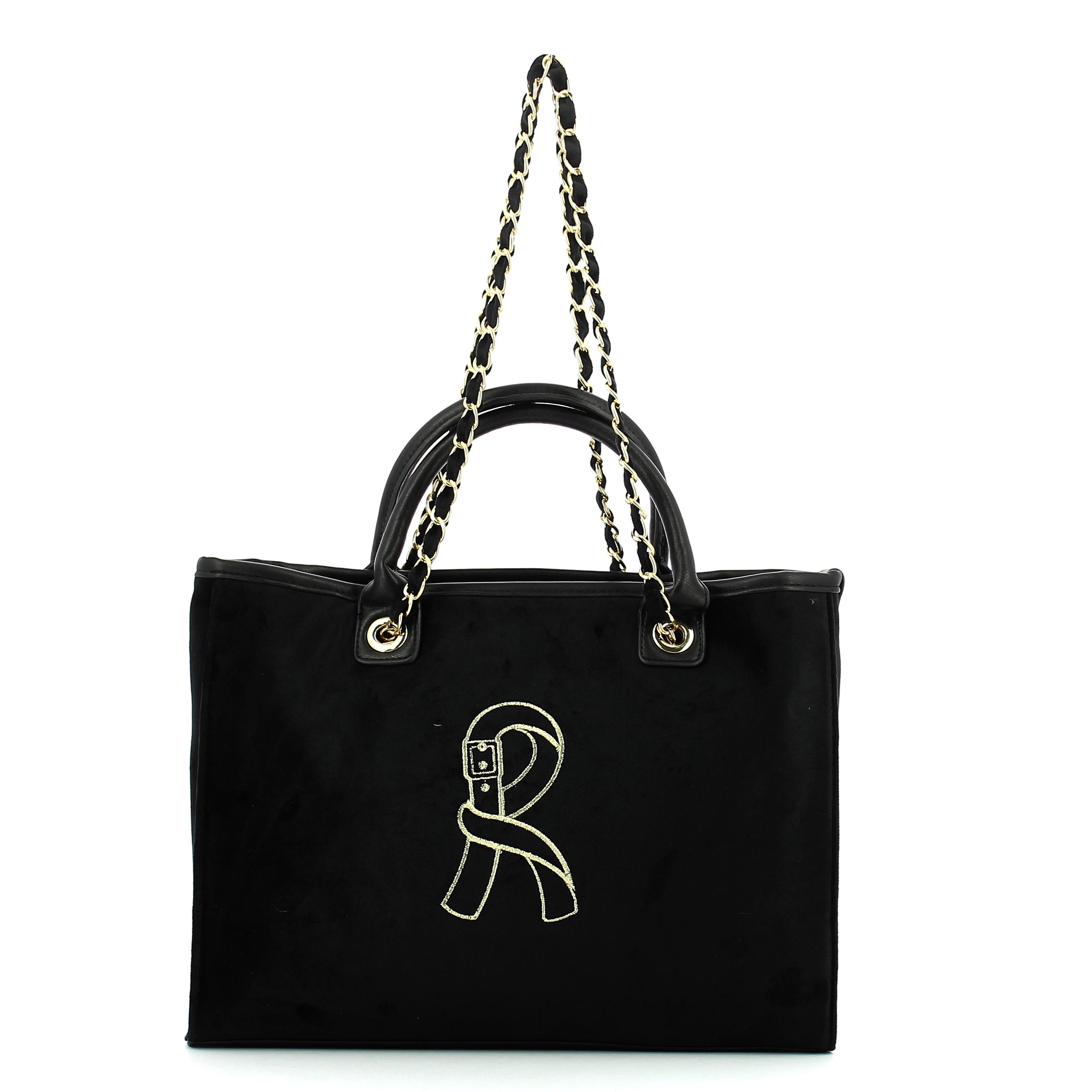 Caricamento dell immagine in corso Borsa-Shopping-Media-Viola-Roberta-di- Camerino-BLACK f12d3d02605