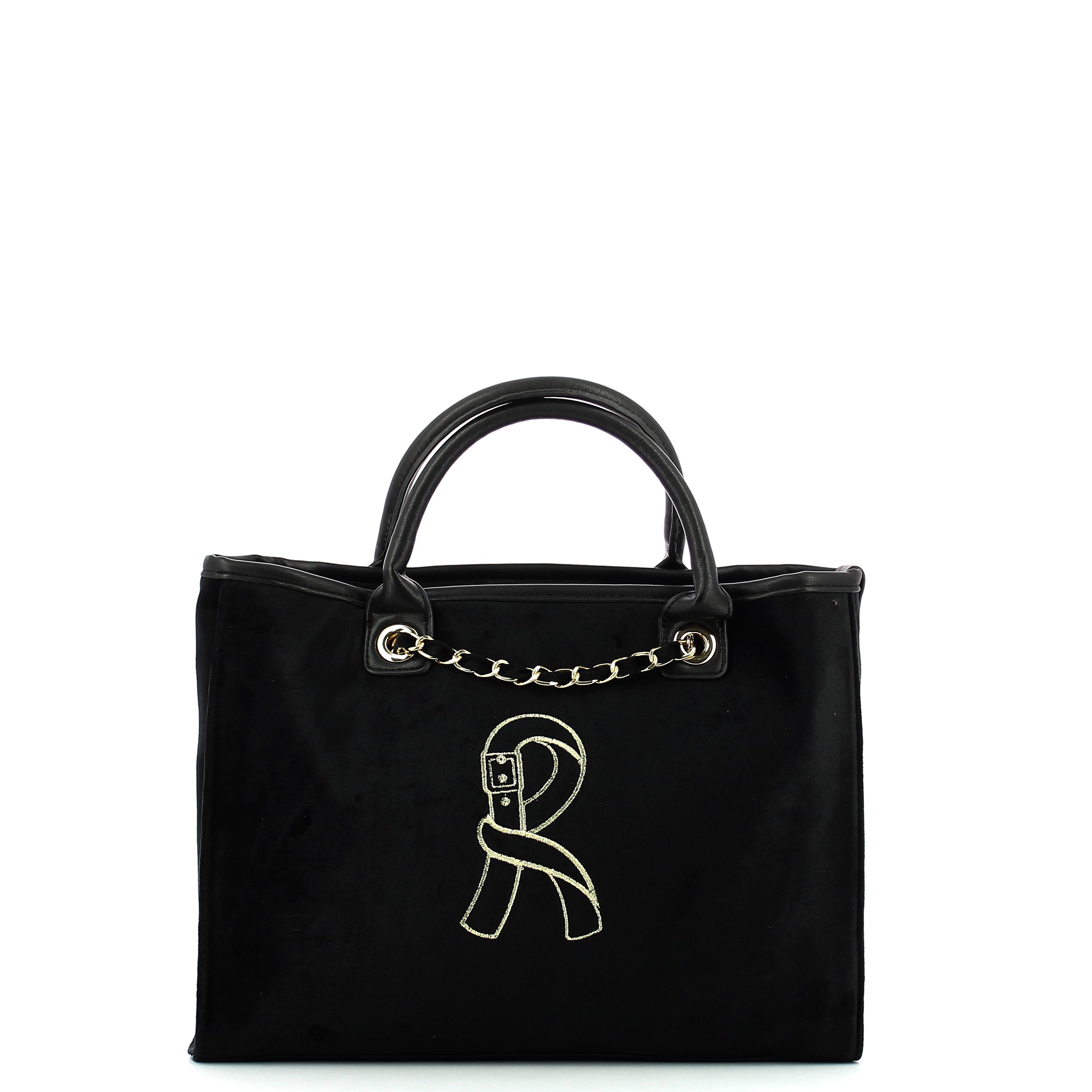 Borsa Shopping Media Viola Roberta di Camerino BLACK  f7cbdb30609