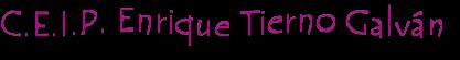 Logo ENRIQUE TIERNO GALVAN