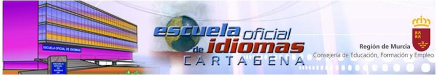 Logo ESCUELA OFICIAL DE IDIOMAS DE Cartagena