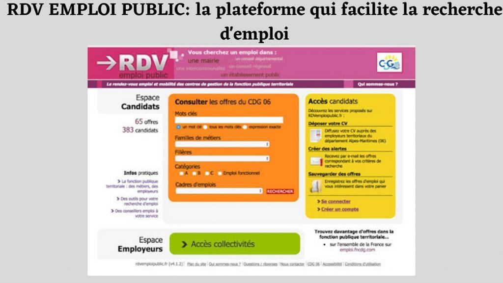 rdv emploi public