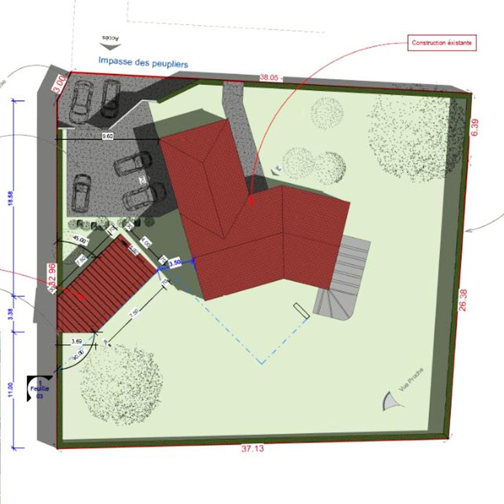 plan permis de construire abri de jardin