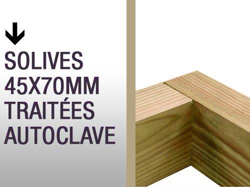 Solives 45x70mm traitées autoclave