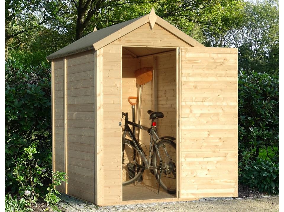 abri bois pour vélo