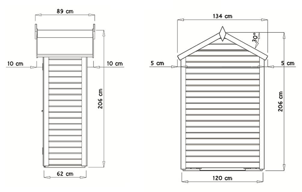 plan armoire de jardin
