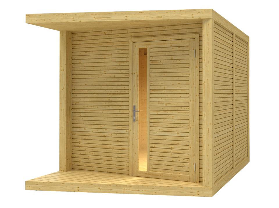 abri bois design avec terrasse