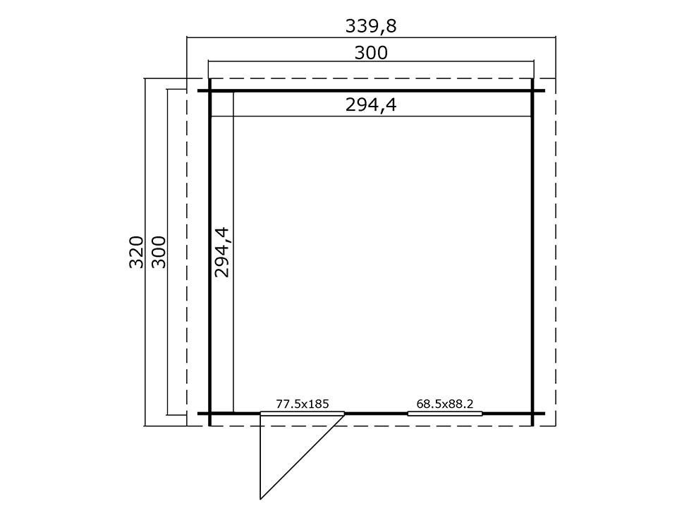plan cabane de jardin double pente