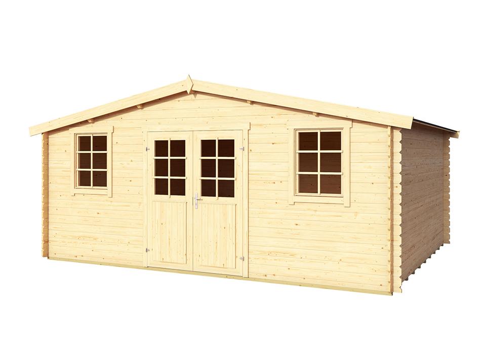 abri bois 20 m2