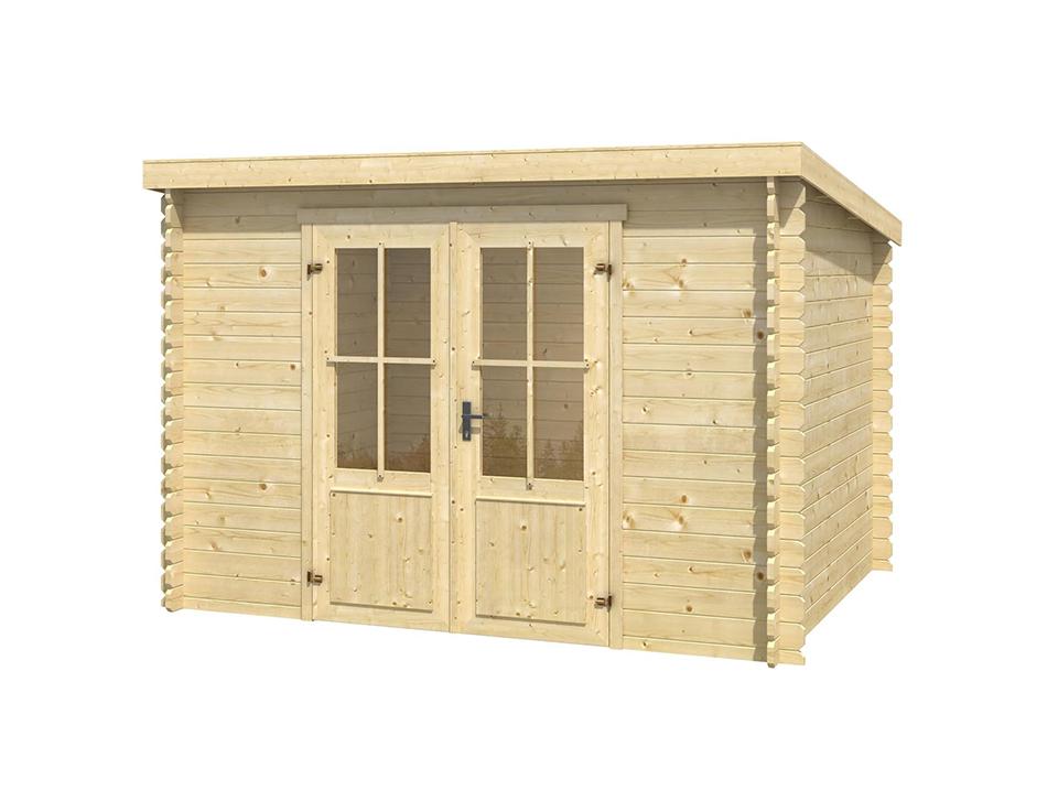 cabane en bois simple pente