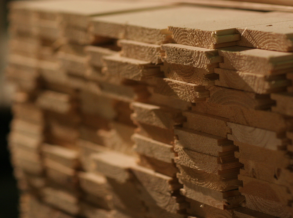plancher cabanon bois